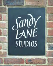 Sandy Lane sign (slate)